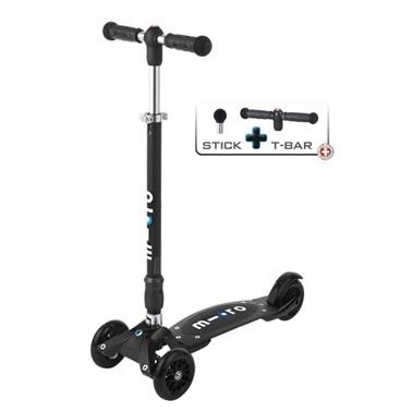 Micro Micro Scooter Kickboard Compact T-Bar Interchangeable Siyah